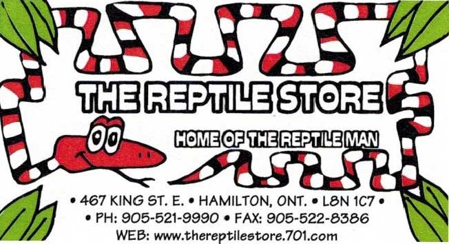 The Reptile Store - Business Card