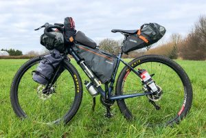 a typical bike packing set up