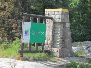welcome sign to Questico Provincial Park