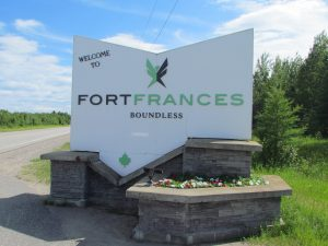 welcome sign for Fort Frances