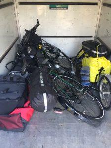loaded bike in uhaul trailer