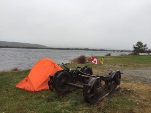 camping on the river