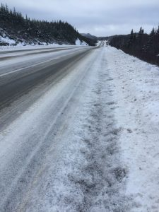 snow covered highway