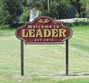Welcome to Leader sign