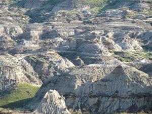 Alberta bad lands landscape