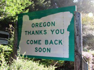 leaving Oregon by bike