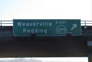 road sign in California