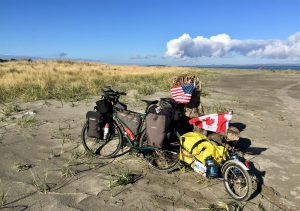 my bike and trailer in Washington USA