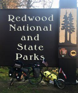 Redwood National State Park sign