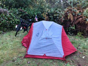 campsite in California state park