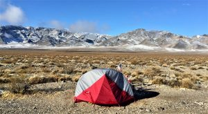camping all alone