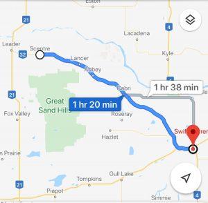 bike map of Saskatchewan