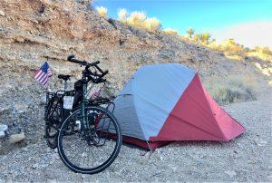bike tent desert