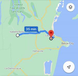 Google map of Belize