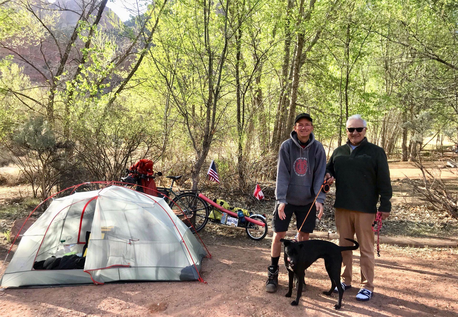 Joe & Liz Leenen with Winnie the wonder dog