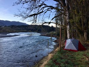 stealth camping along the river
