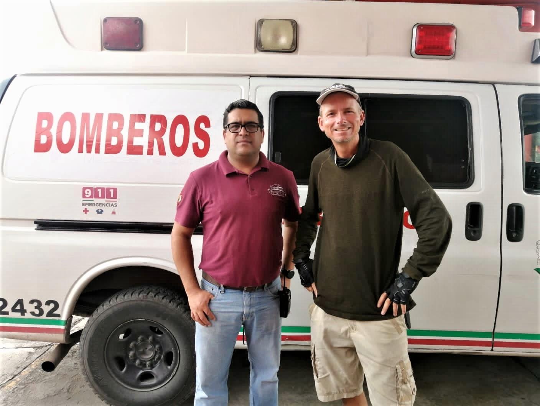 Fresnillo Fire Department – Estación de Bomberos and their fire chief Víctor René García Magallanes