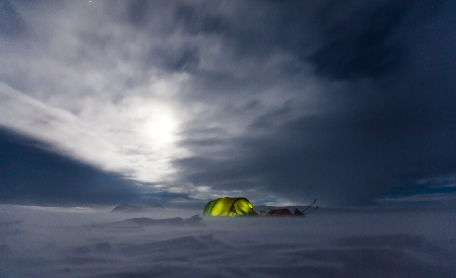Winter Camping and Biking