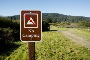 no camping sign