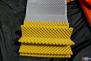 a camping foam sleeping pad